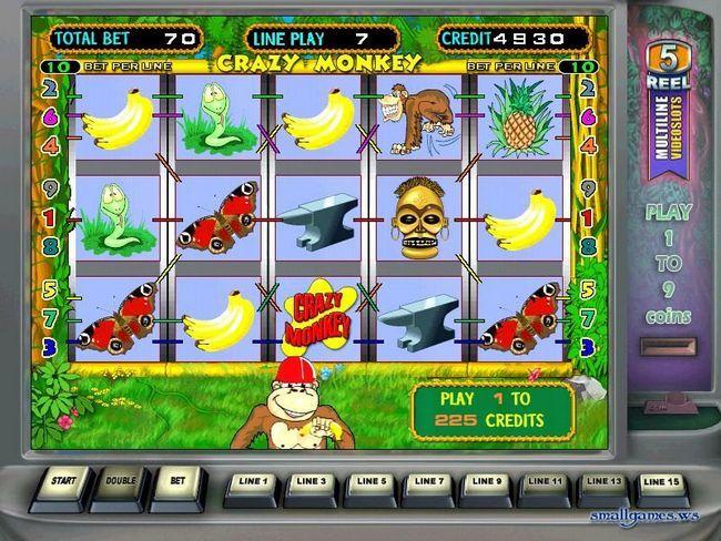 Игровой автомат Обезьянки Crazy Monkey бесплатно играть