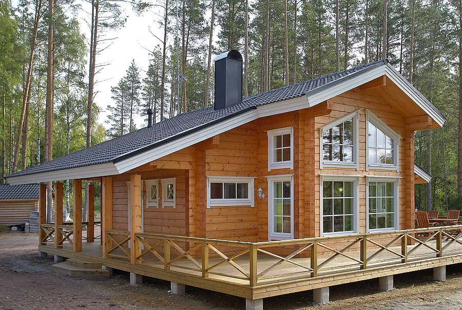 дом из финского бруса фото внимание уделяется декоративности