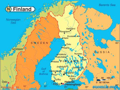 Карта Финляндии - Финляндия 2015. Всё о Финляндии. Отдых, шоппинг ...