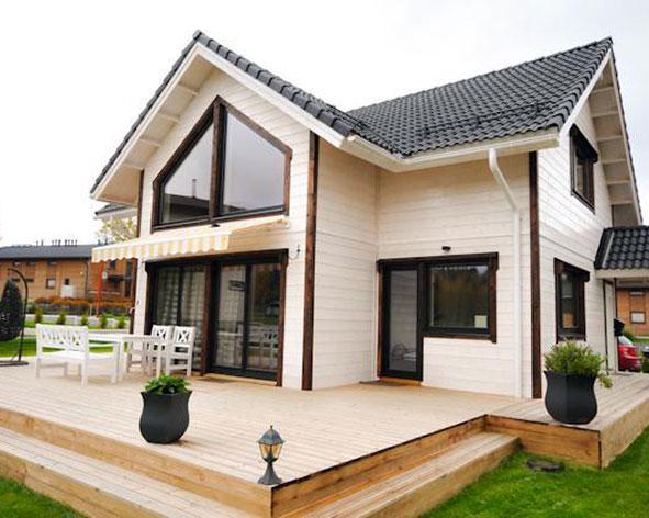 Из чего строят частные дома в финляндии